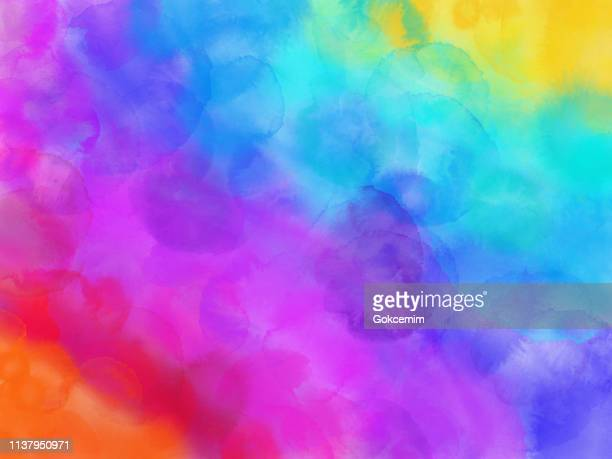 colorful rainbow watercolor background. - bright stock illustrations