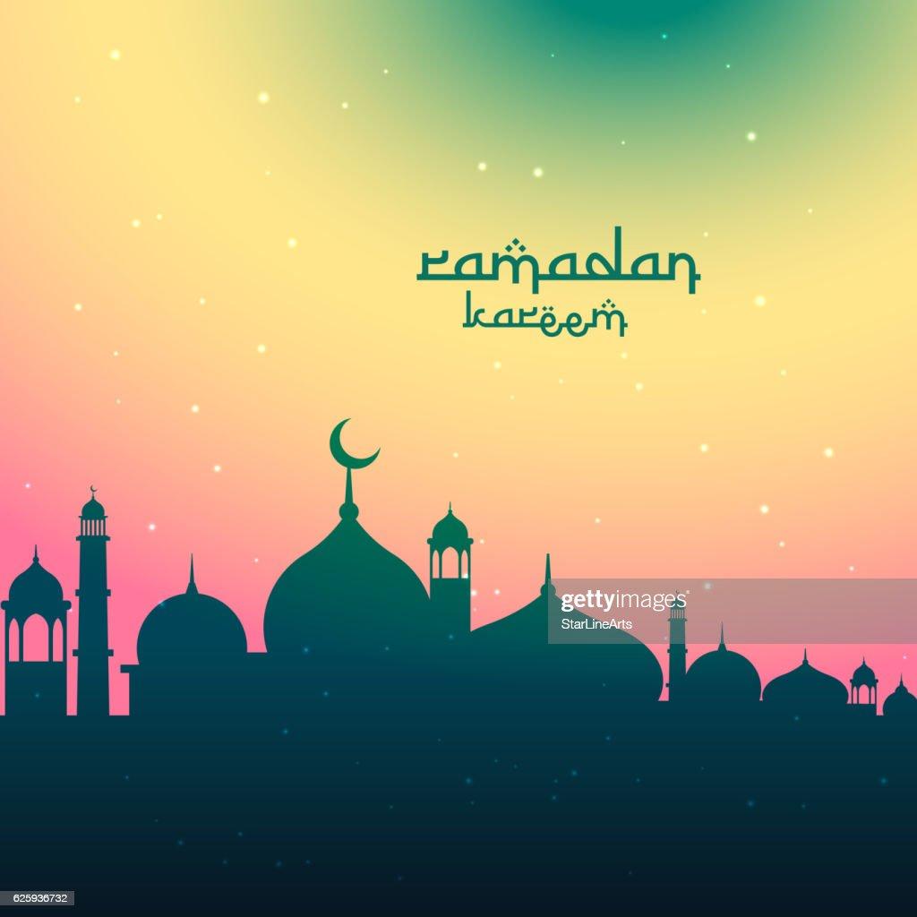 colorful ramadan kareem festival greeting