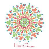 Colorful Rangoli For Onam Festival Celebrations
