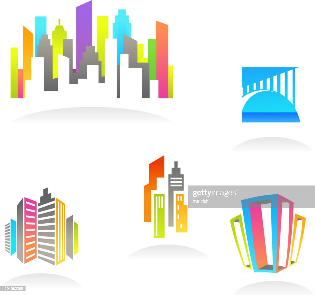 Colorful real estate backgrounds