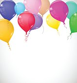 Colorful realistic balloons vector