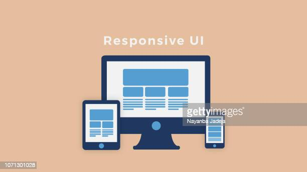 bunte responsive web design-ikone - responsives webdesign stock-grafiken, -clipart, -cartoons und -symbole