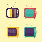 Colorful Retro TV Set