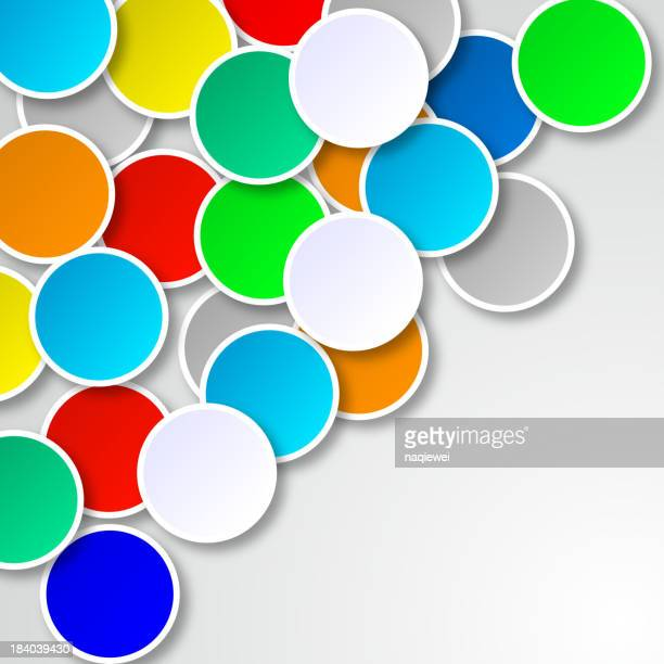 colorful round pattern background