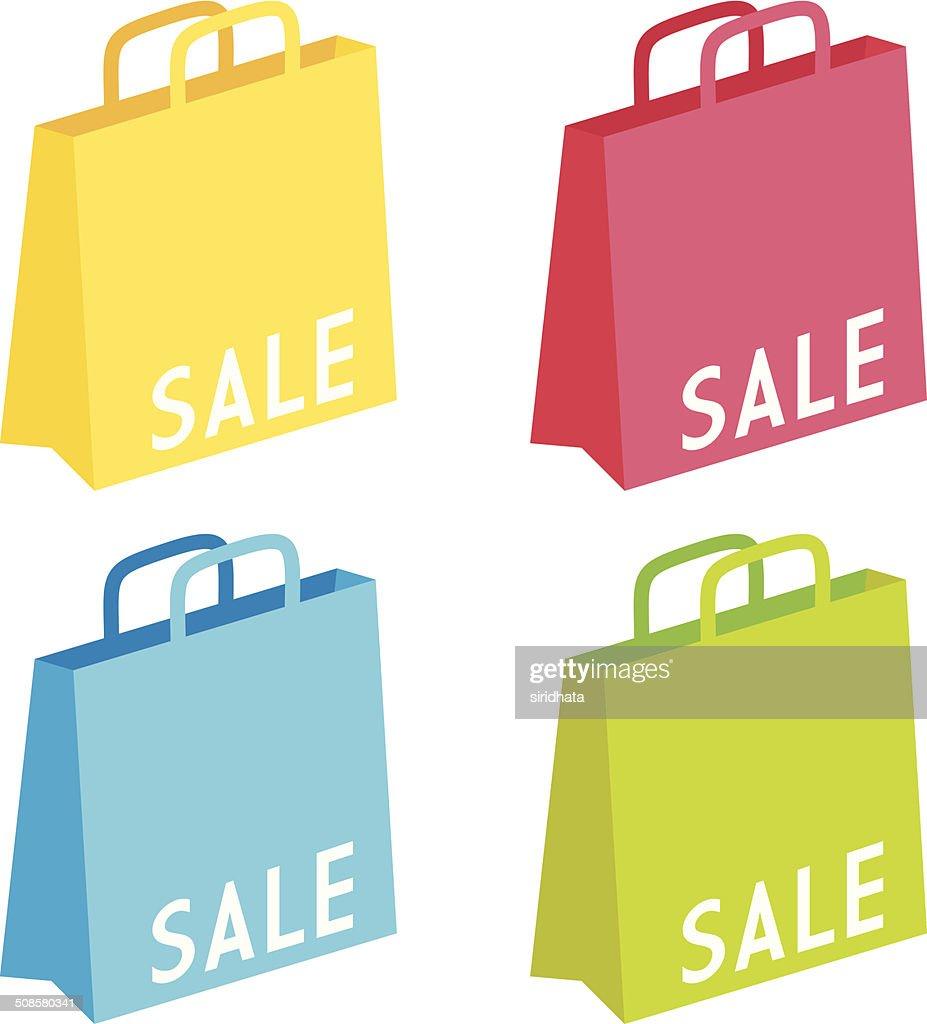 Colorful Sale Goodie Bags : Vector Art