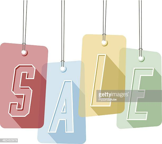 colorful sale tags - labeling stock illustrations, clip art, cartoons, & icons