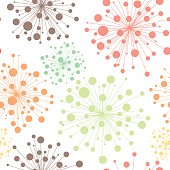 Colorful seamless decorative pattern with abstract flowers