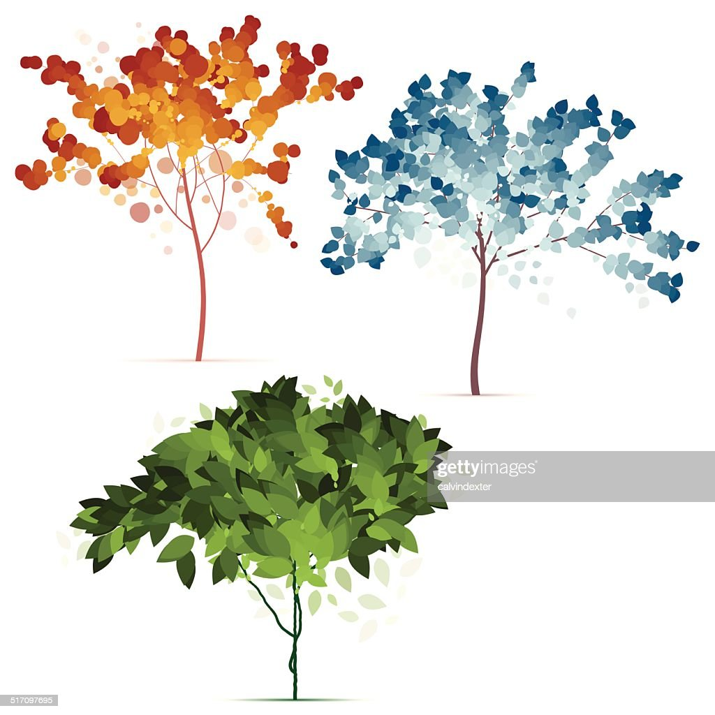 Colorful Seasonal Trees Vector Art | Getty Images