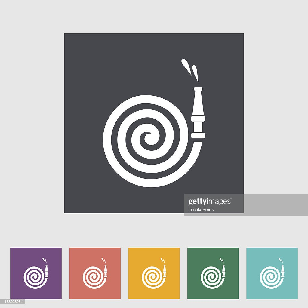 Colorful set of rolled up fire hose icons