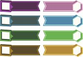 Colorful Set of Tags and Labels Against White Background