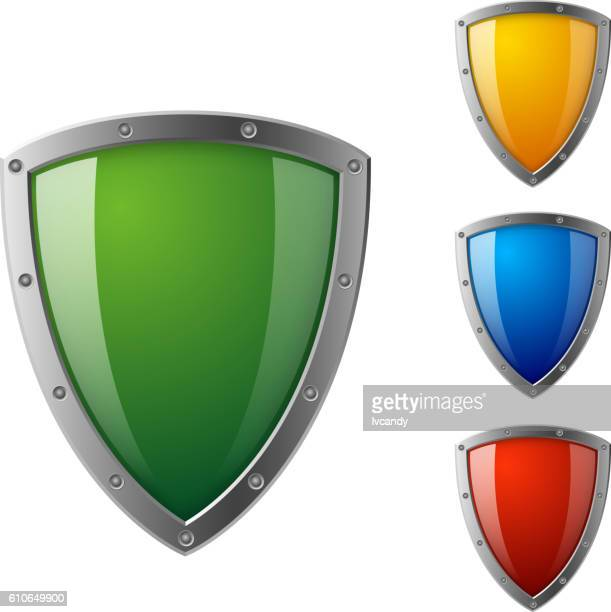 colorful sheild - shield stock illustrations