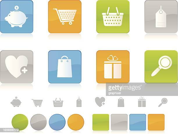 Colorful Shopping Icons