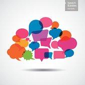 Colorful Speech Bubbles - Cloud