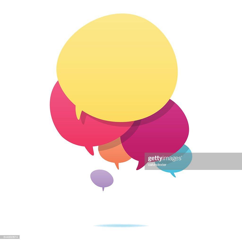 Colorful speech bubbles : Stock Illustration