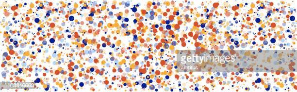 カラフルな球の粒子 - 混雑した点のイラスト素材/クリップアート素材/マンガ素材/アイコン素材