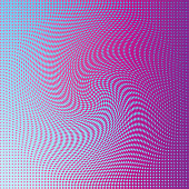 Colorful Spinning twirl diamond shaped Halftone pattern background