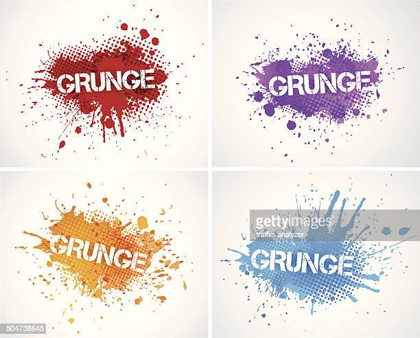 illustrazioni stock, clip art, cartoni animati e icone di tendenza di spruzzi colorati - colore descrittivo