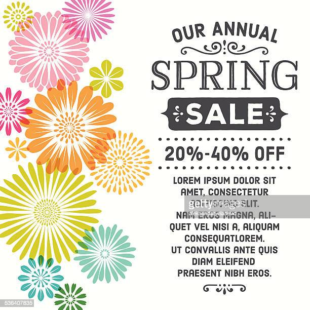 Colorful Spring Flowers Invitation
