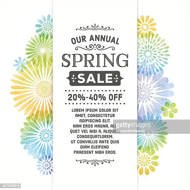 Colorful Spring Watercolor Flower Banner