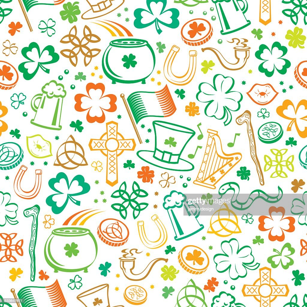 Colorful St. Patricks Seamless Pattern
