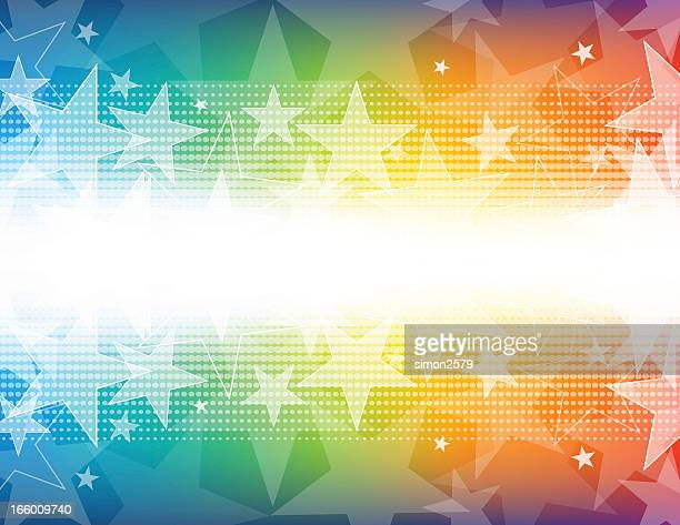 Colorful star shape background