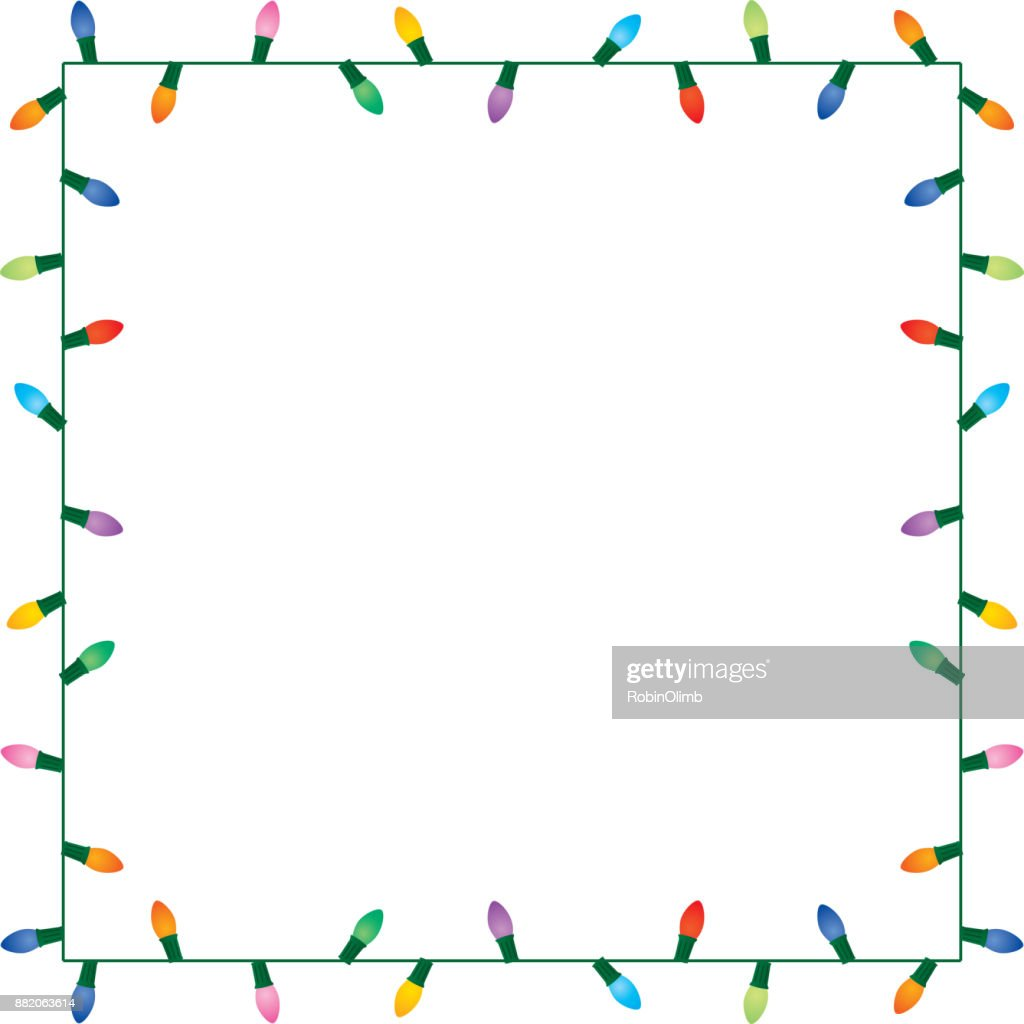 colorful string of christmas lights vector art