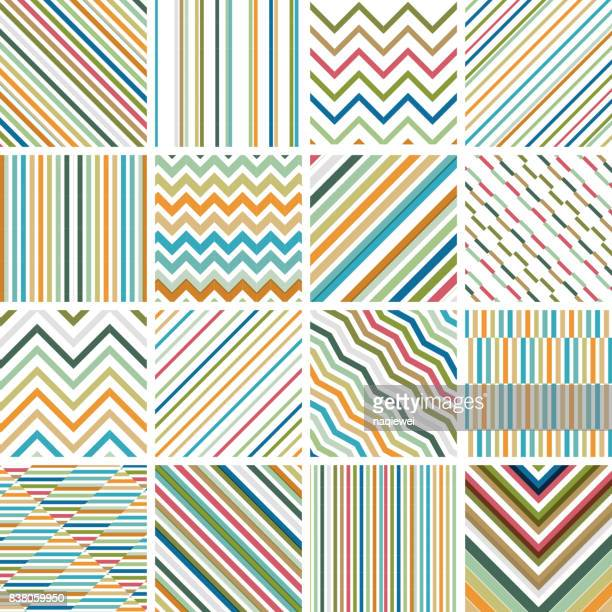 Colorful Stripe Seamless Pattern Collection