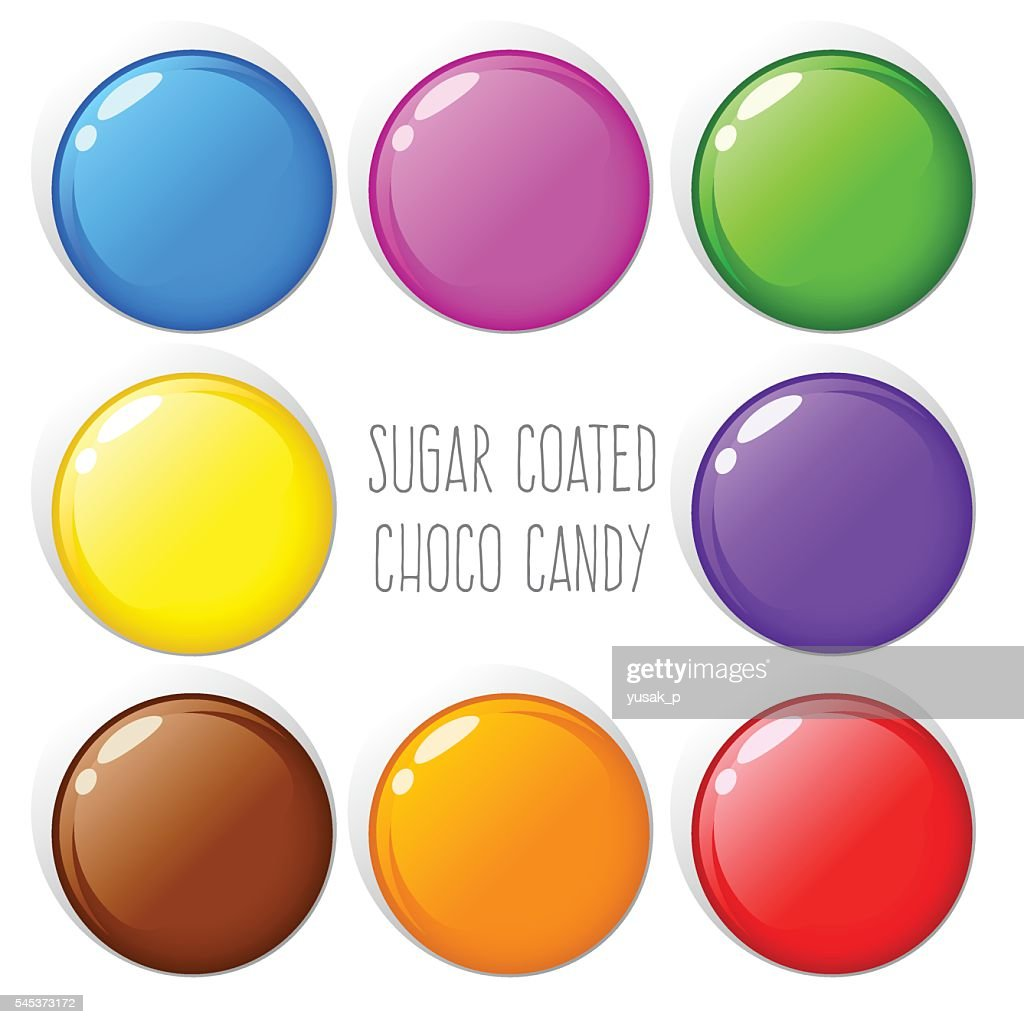Colorful Sugar Coated Chocolate Candy