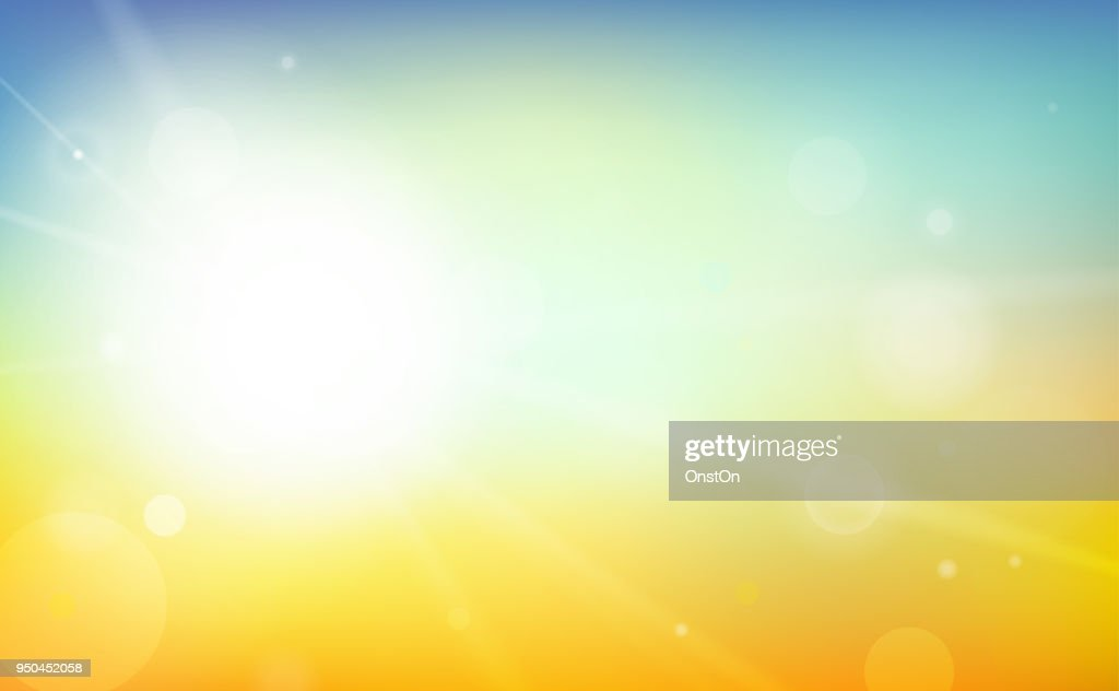 Colorful Summer Background Vector Illustration