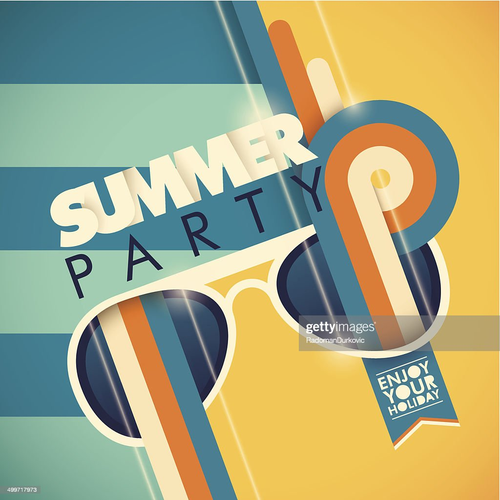 Colorful summer party background.