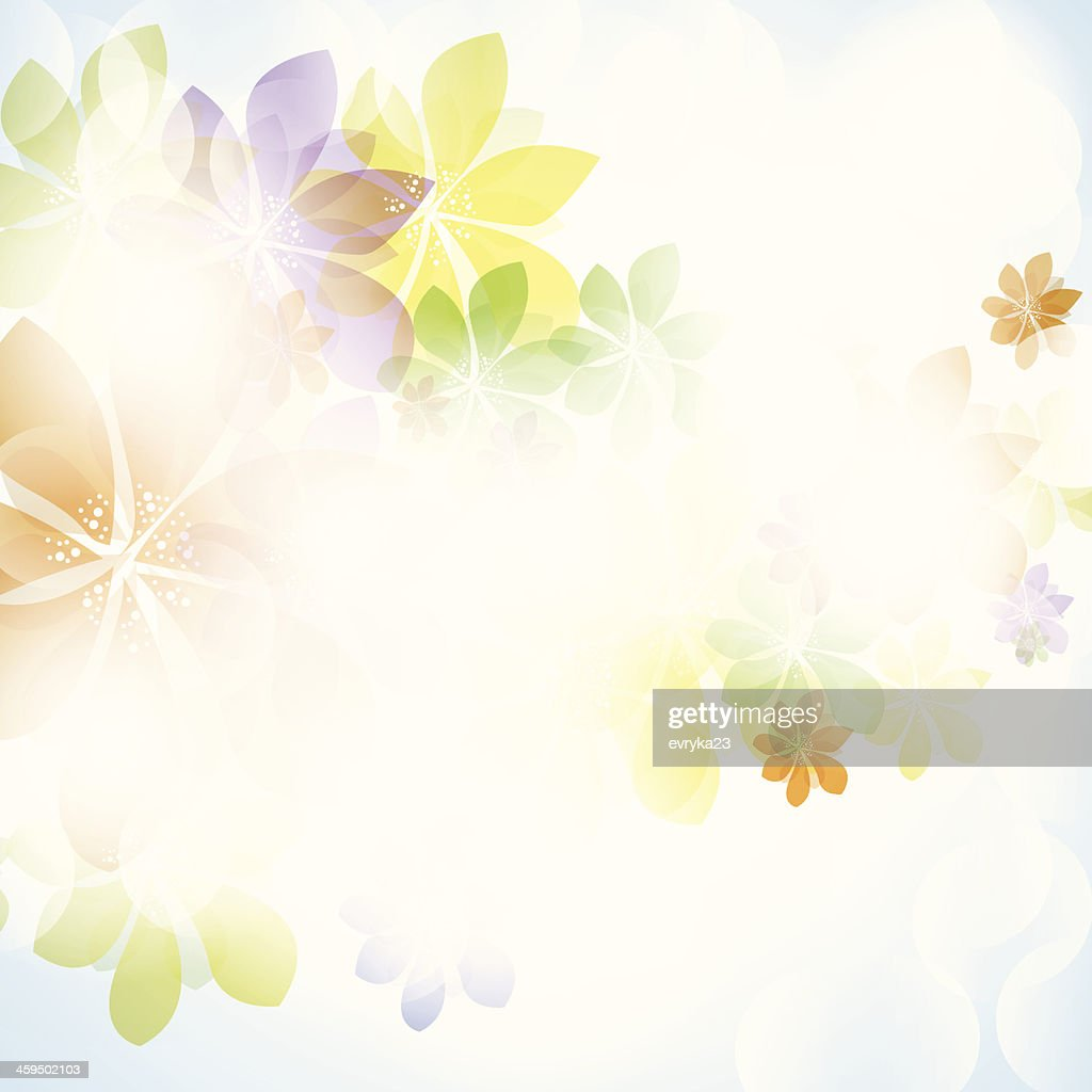 Colorful summer spring background with flowers