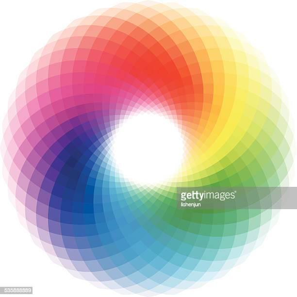 colorful swirl - spectrum stock illustrations