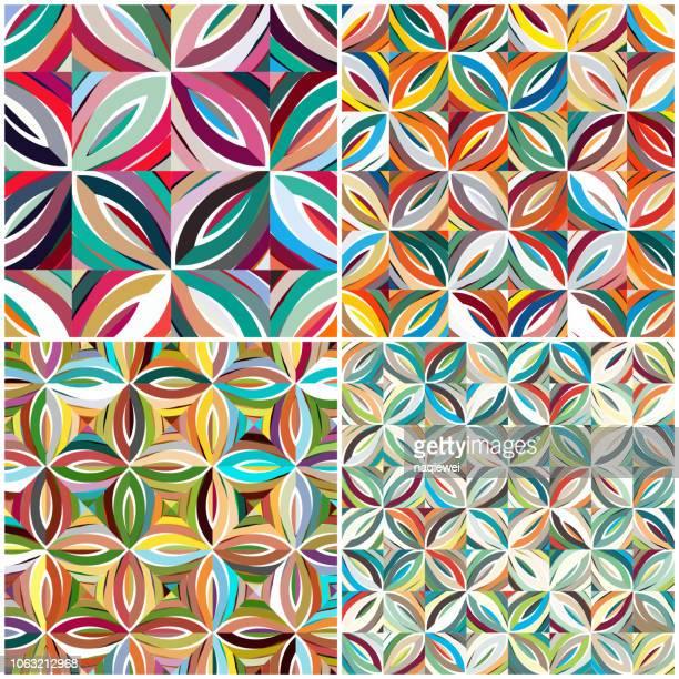 カラフルなテキスタイル パターン - ペーズリー点のイラスト素材/クリップアート素材/マンガ素材/アイコン素材