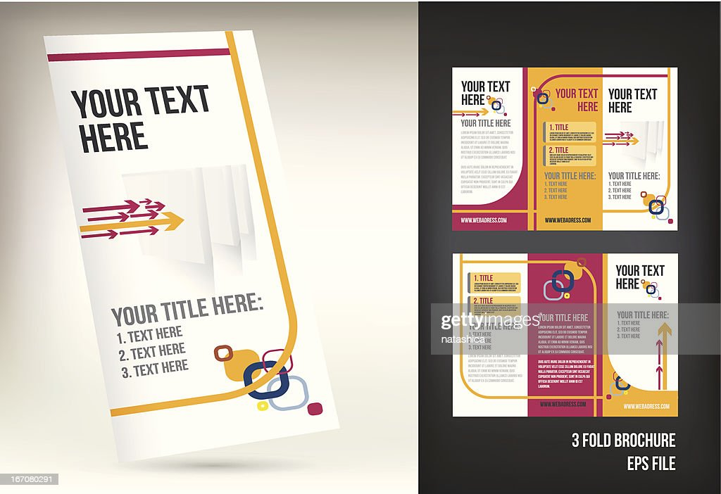 colorful three fold brochure template vector art getty images