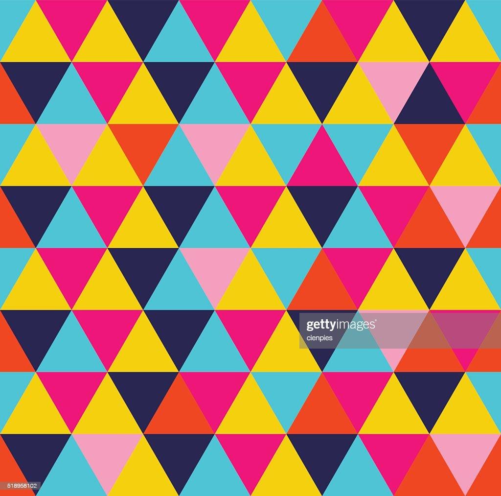 Colorful triangle geometric seamless pattern