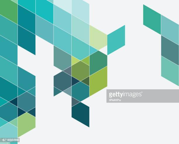 colorful triangle pattern background - rhombus stock illustrations