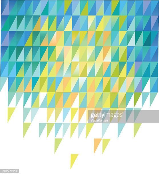 Bunten Dreieck Form Hintergrund-Erscheinung