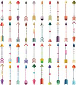 Colorful Tribal Arrows Detailed Vector Set