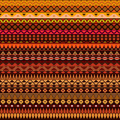 Colorful tribal vintage ethnic seamless pattern