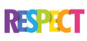 RESPECT colorful typography banner
