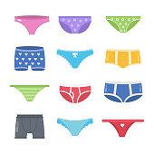 Colorful underpants set.