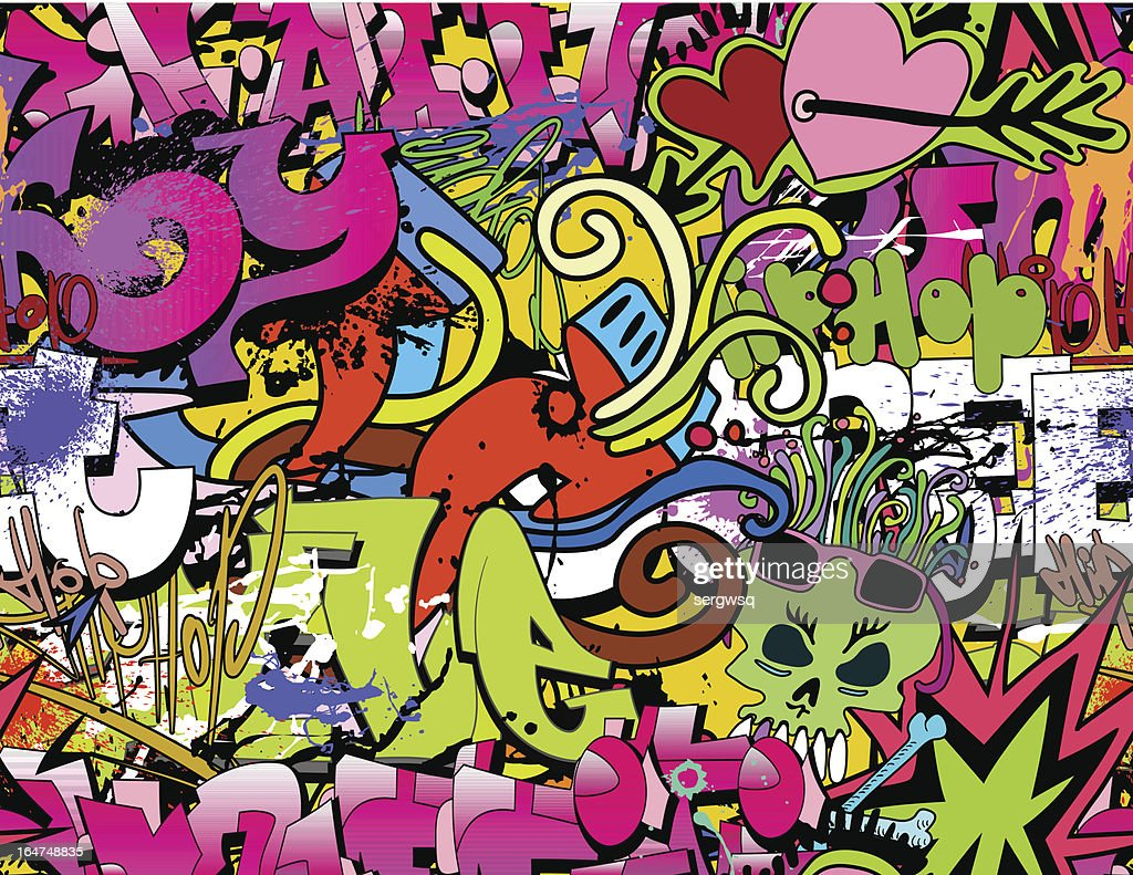 Colorful urban graffiti background