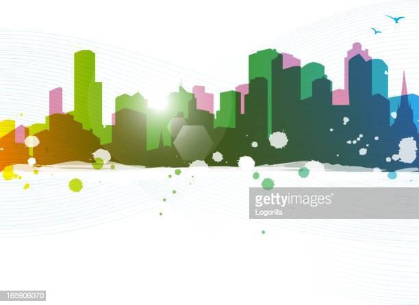 Colorful urban scene