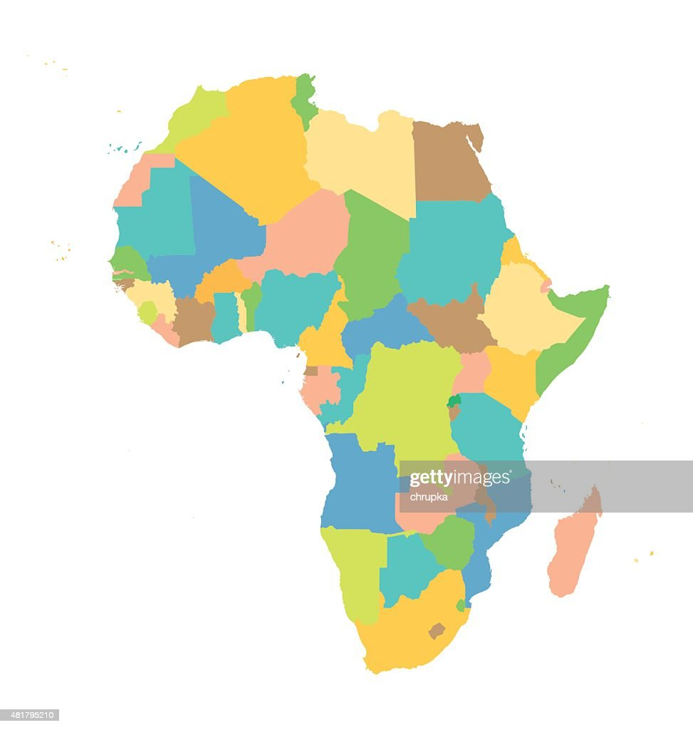 colorful vector Africa map