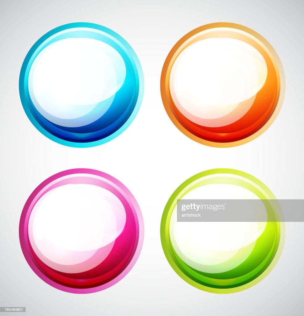 Colorful vector bubbles