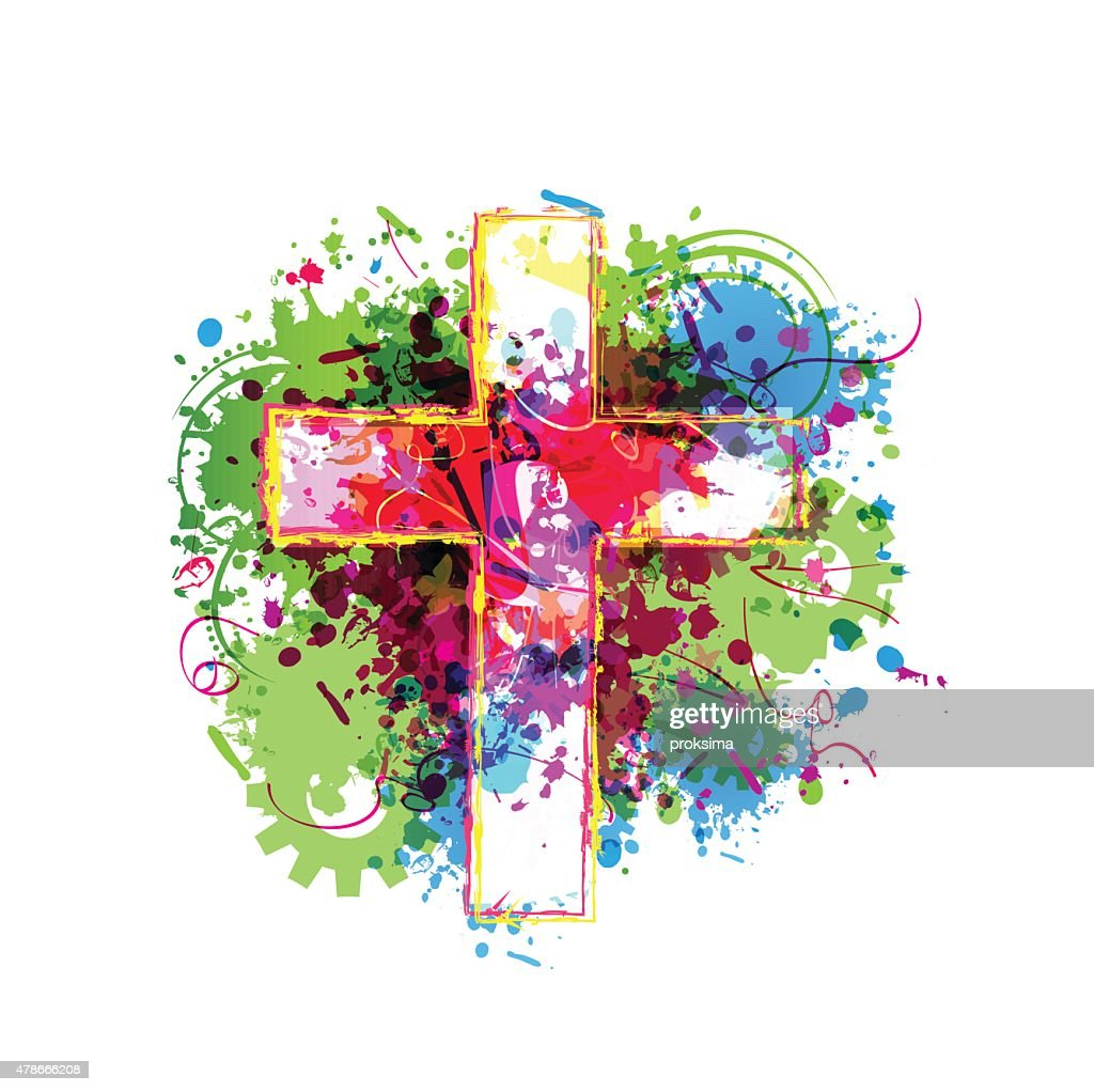 Colorful vector cross background