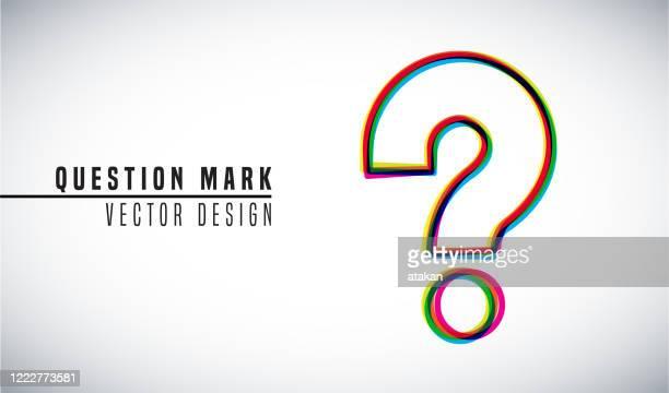 buntes vektordesign-konzept. fragezeichen - frage und antwort stock-grafiken, -clipart, -cartoons und -symbole