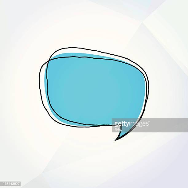 Colorful Vector Doodle Speech Bubble Drawing On Paper