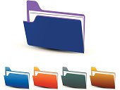 Colorful vector folders