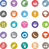 Colorful  Vector Food Icons - 25 Icons